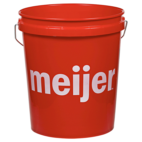 Meijer 5 Gallon Pail Red
