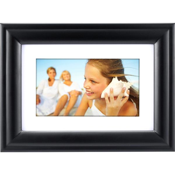 Polaroid 7 Inch Digital Photo Frame  Black Wood Frame