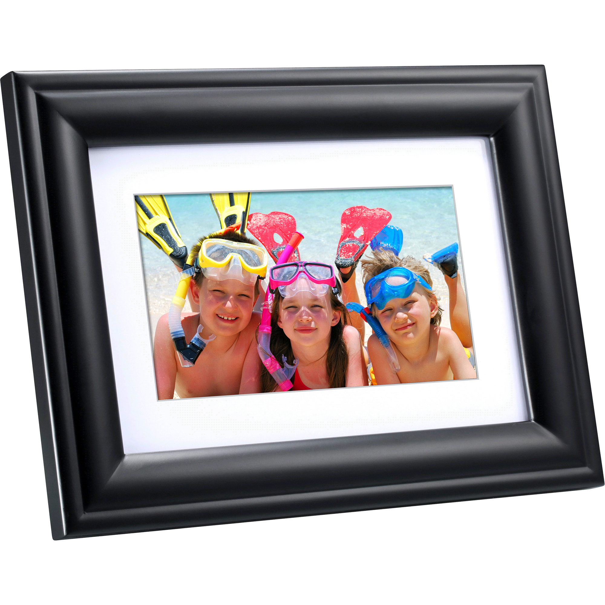 Polaroid 7 inch Digital Photo Frame- Black Wood Frame | Meijer.com