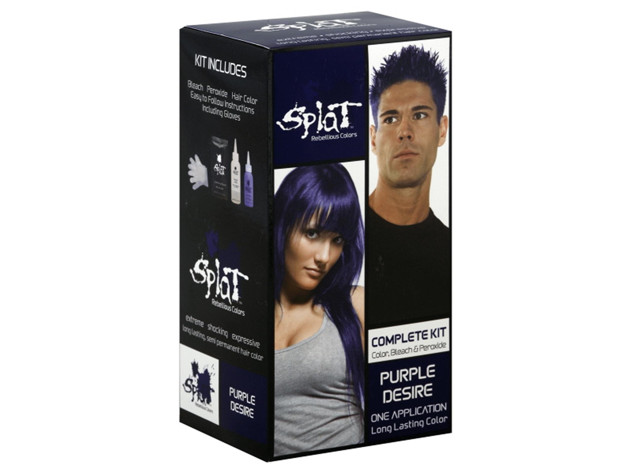 Splat Rebellious Colors Purple Desire Complete Hair Color Kit