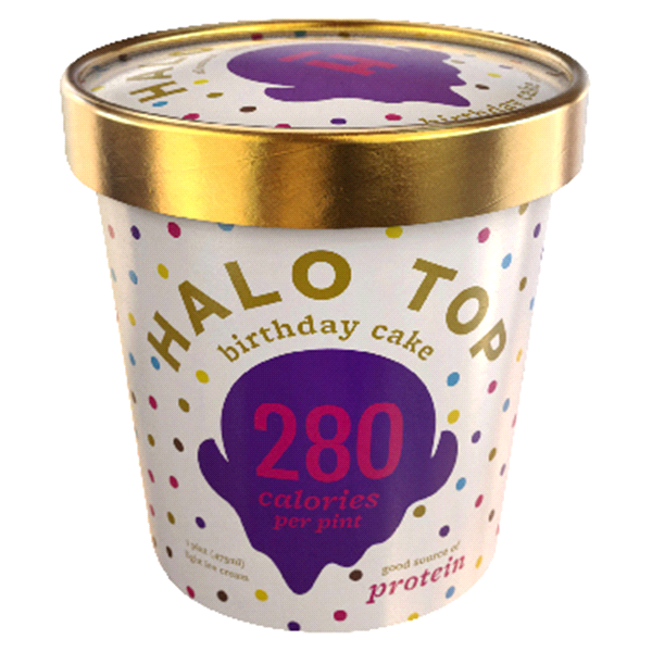 Halo Top Birthday Cake Ice Cream 16 Oz