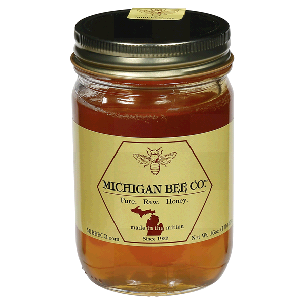 1eb477b63f Michigan Bee Company Pure Raw Honey 16 oz