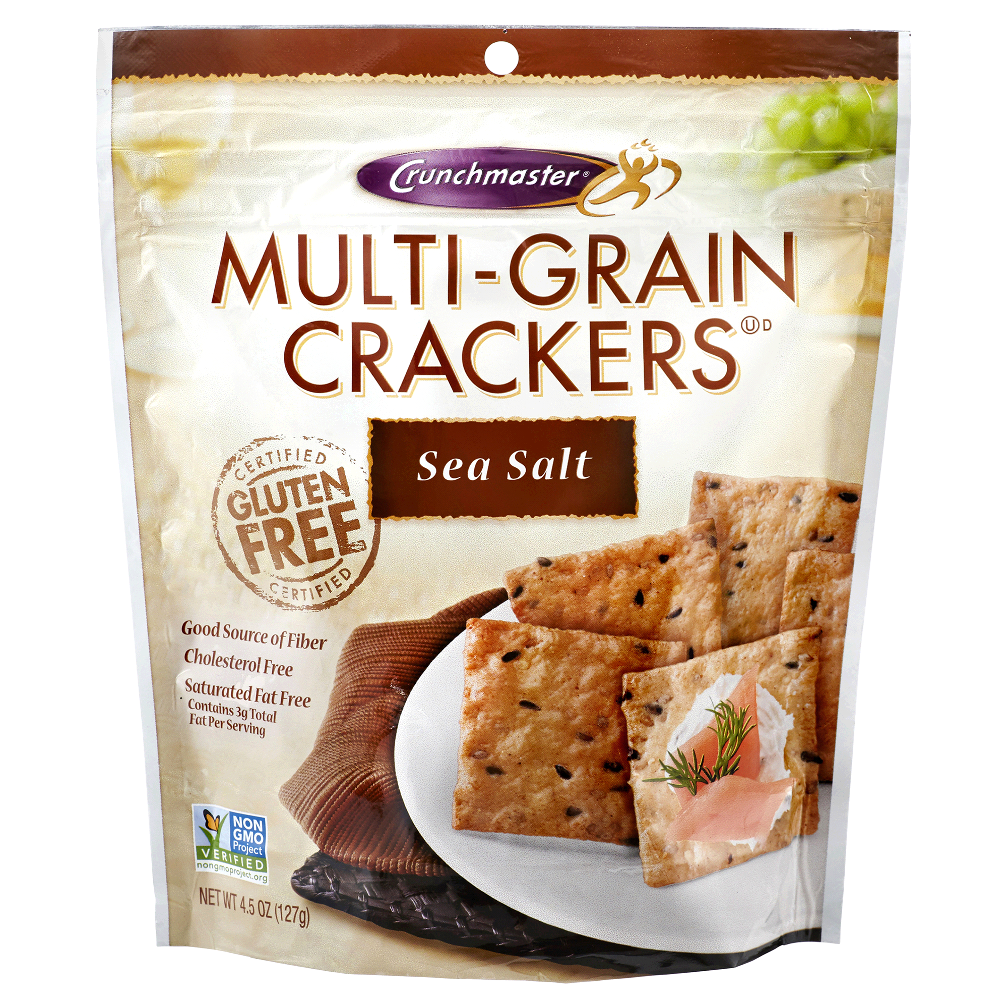 Crunchmaster Multi Grain Crackers Sea Salt 4 5 oz