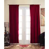 Eclipse Kendall Blackout Window Curtain Panel - 63 - Ruby