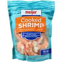 Meijer Cooked Frozen Shrimp 16 20 Count Per Lb