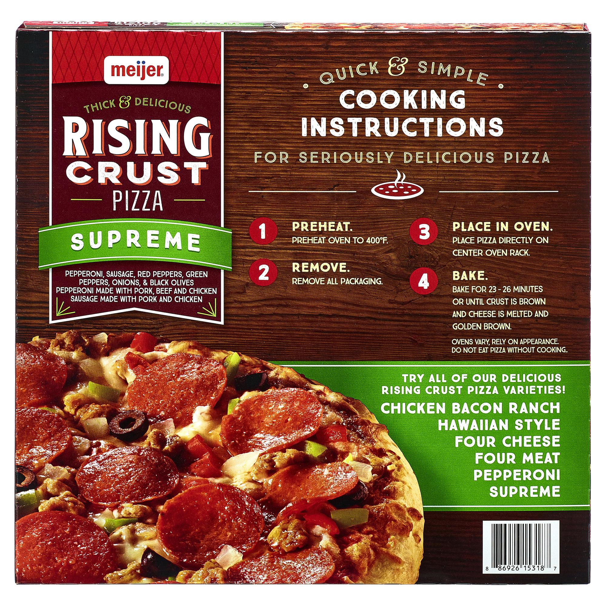 Meijer Rising Crust Supreme Pizza 32.7 oz. | Meijer.com