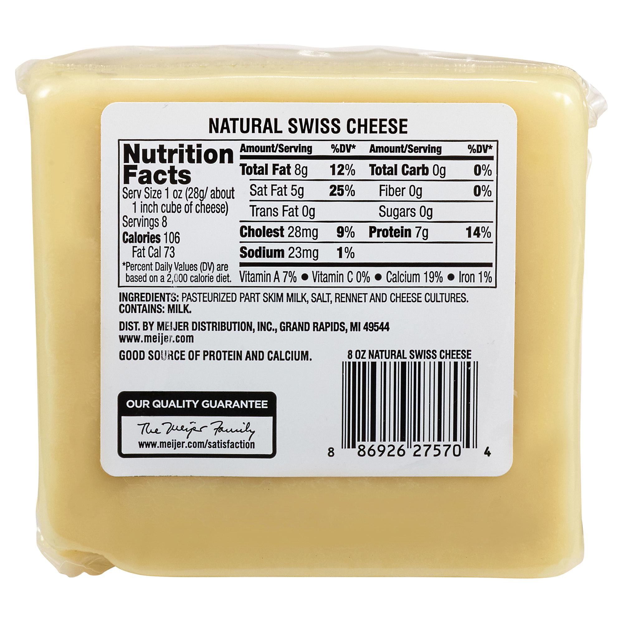 Meijer natural swiss cheese 8 oz meijer sisterspd