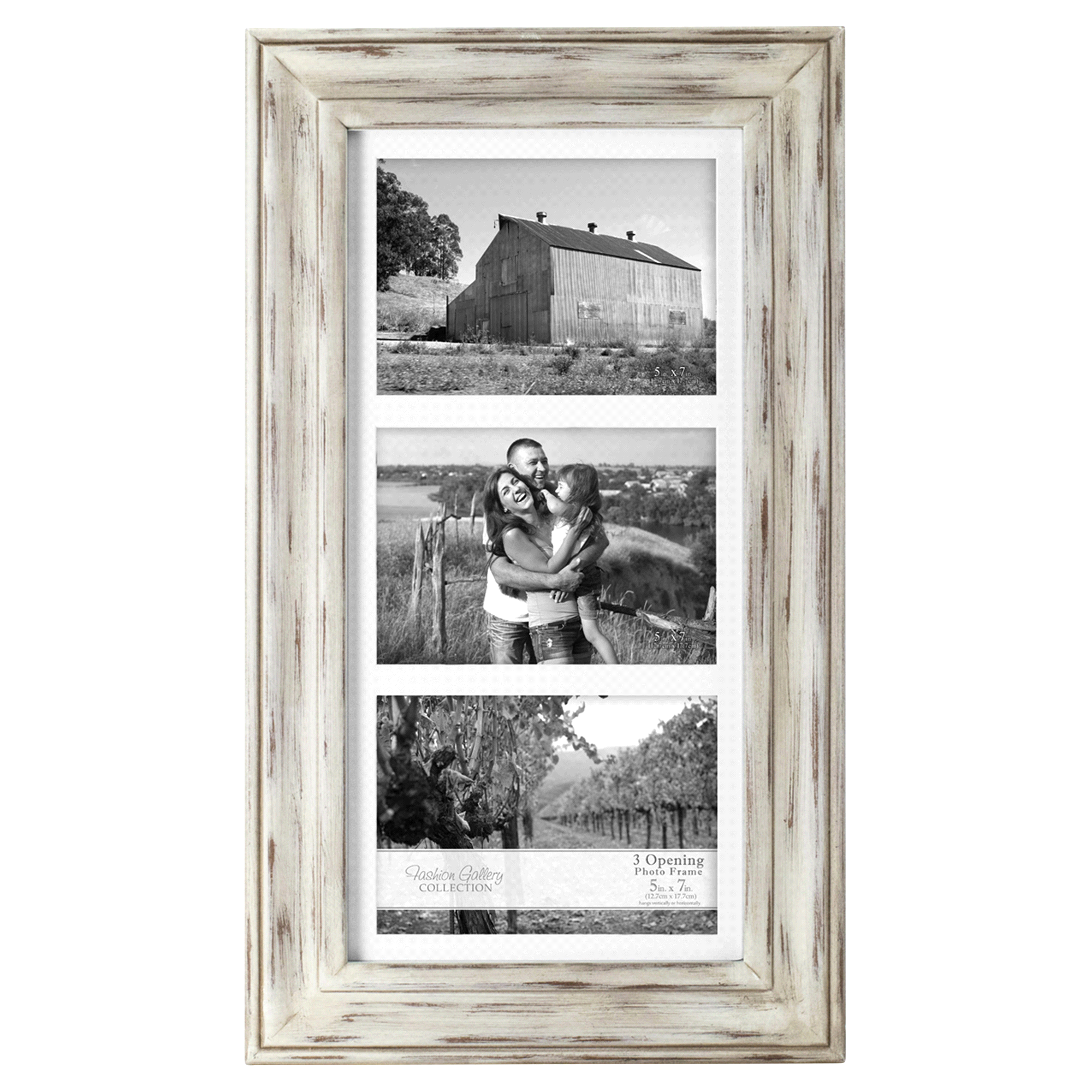 Malden Whitman 3 Openings 5 x 7 White Wash Picture Frame | Meijer.com