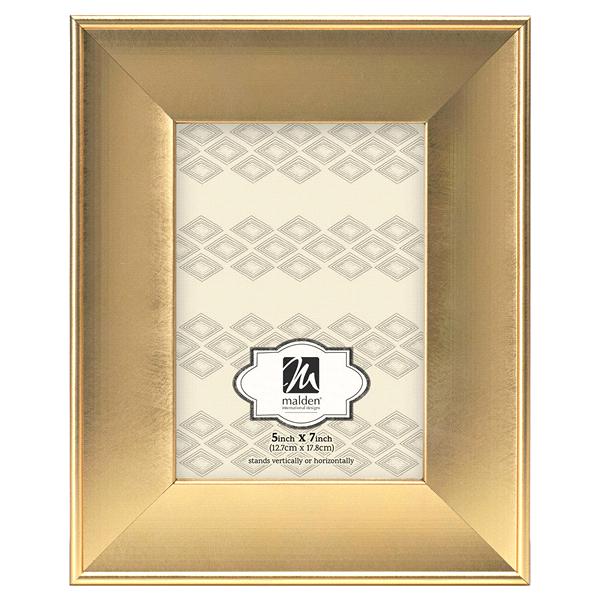Malden Gilded Gold Collins 5 x 7 Brushed Gold Picture Frame | Meijer.com