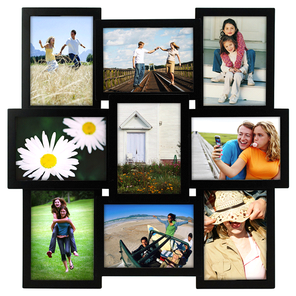Malden 9 Openings 5 x 7 Black Crossroads Picture Frame Collage ...