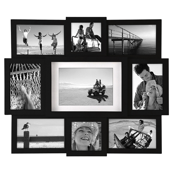 Malden Multi Size 9 Openings Black Picture Frame Collage Meijer