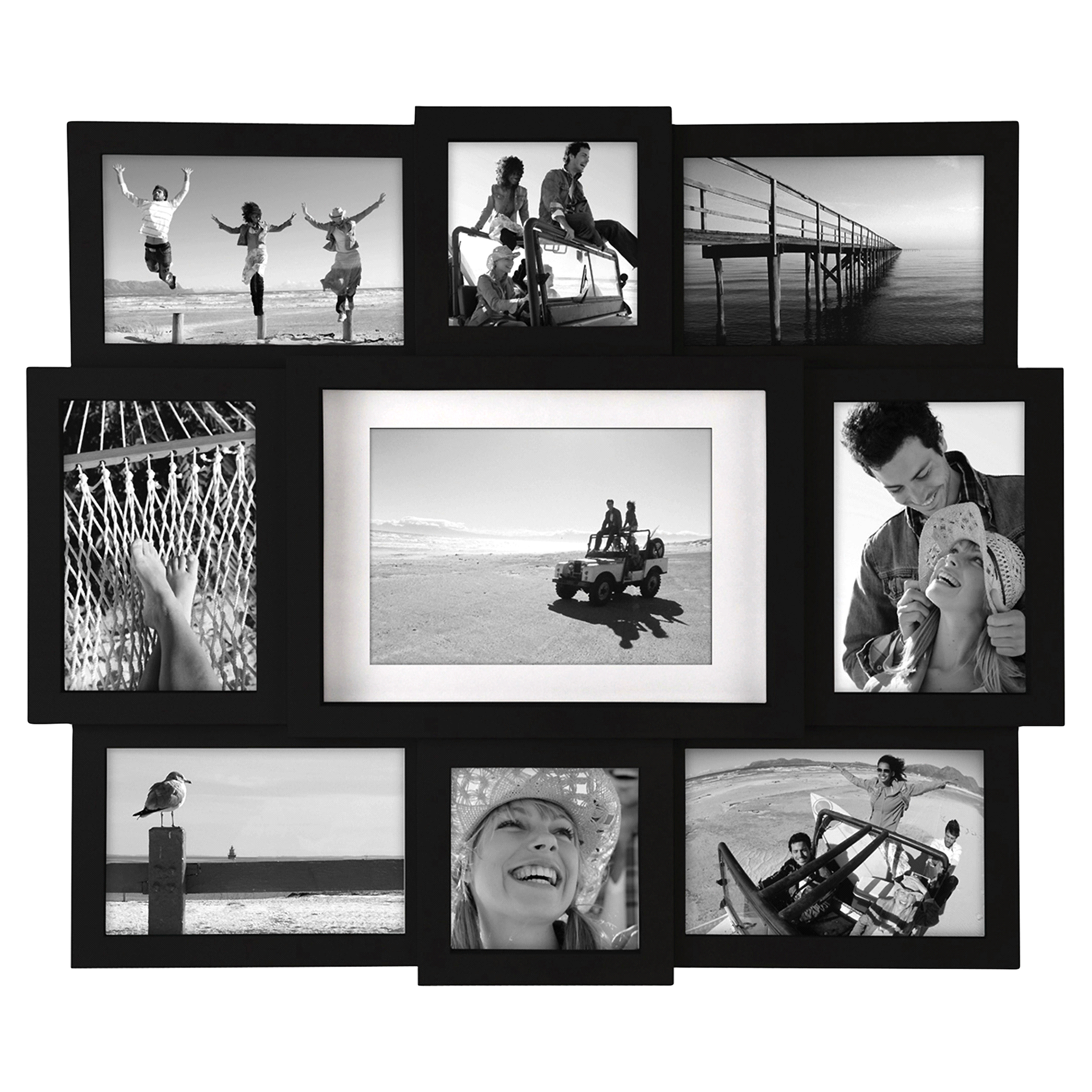 Malden Multi Size 9-Openings Black Picture Frame Collage | Meijer.com