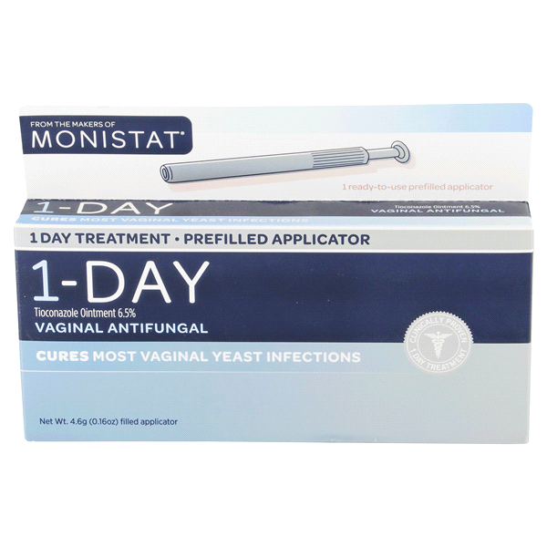Monistat 1 Vaginal Antifungal Treatment Simple Therapy 1 Day