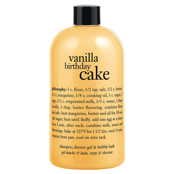 Philosophy Vanilla Birthday Cake Shampoo Shower Gel Bubble Bath 16 Oz