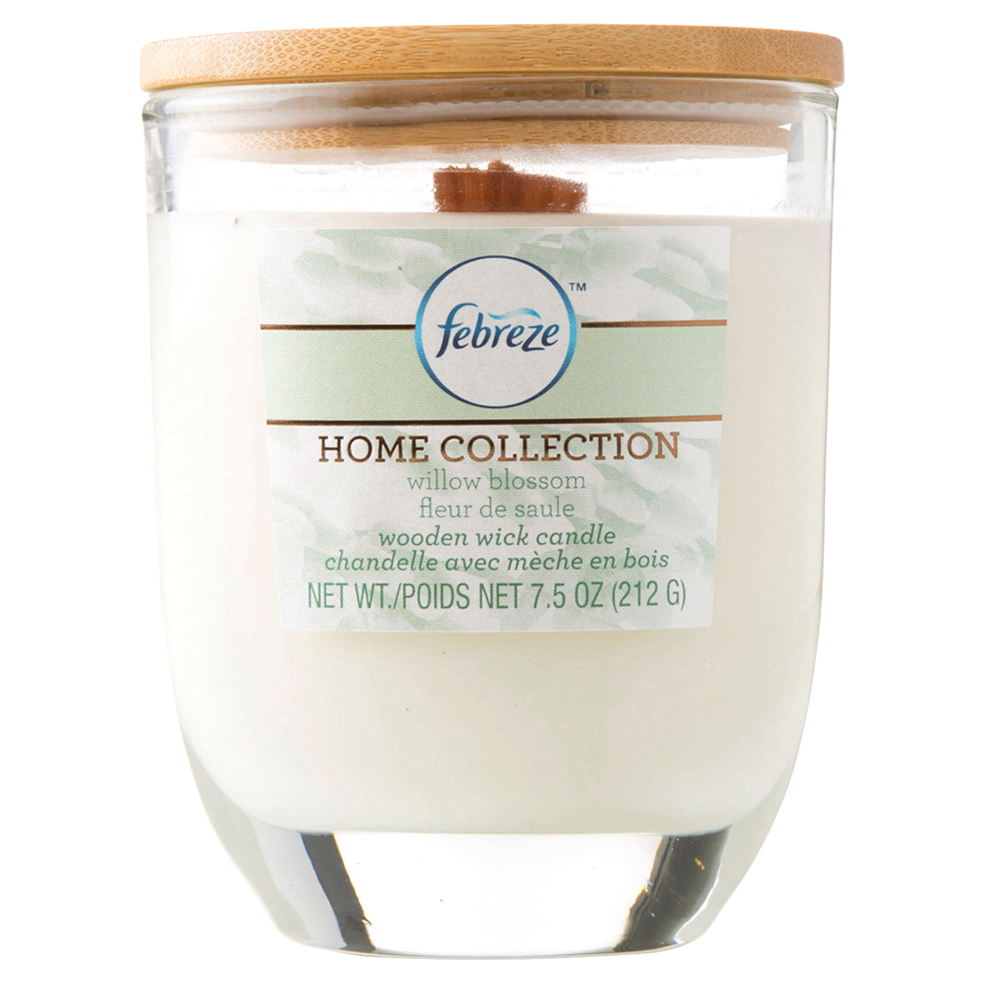 7.5 oz. Febreze Home Collection Wood Wick Willow Blossom Candle ...