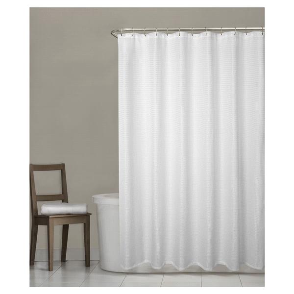 Room Retreat Stevenson Fabric Shower Curtain White