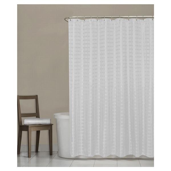 room u0026 retreat madison fabric shower curtain white