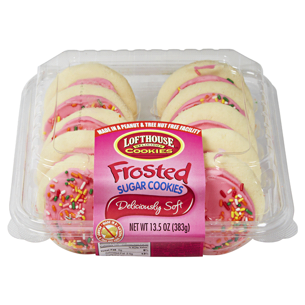 Lofthouse Pink Frosted Sugar Cookies 10 Count 13 5 Oz Meijer Com