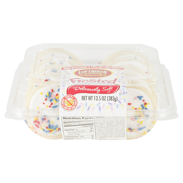 Lofthouse White Frosted Sugar Cookies 10 Count Meijer Com