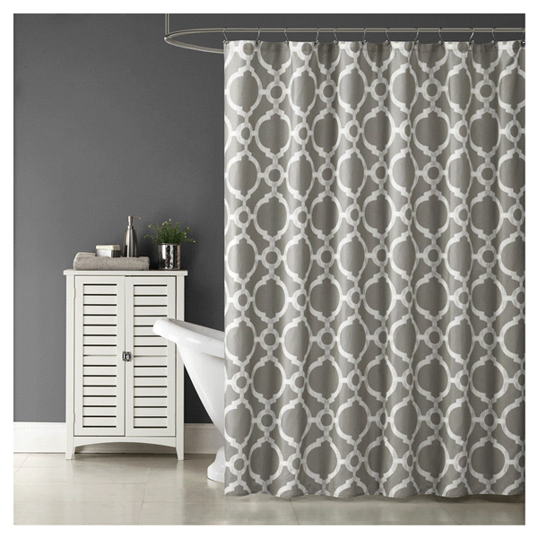 Room Retreat Trellis Shower Curtain Grey
