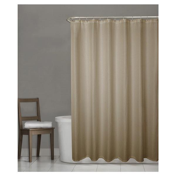 Room Retreat Stevenson Fabric Shower Curtain Tan