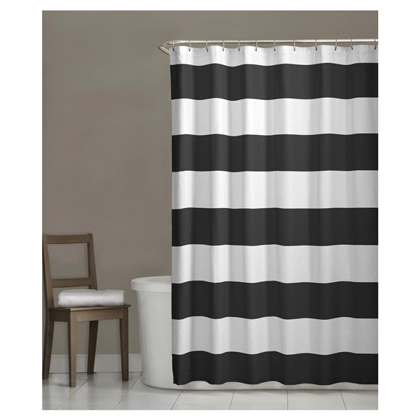 Room Retreat Porter Fabric Shower Curtain Grey