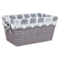 Room Retreat Grey Tote With Elephant Liner