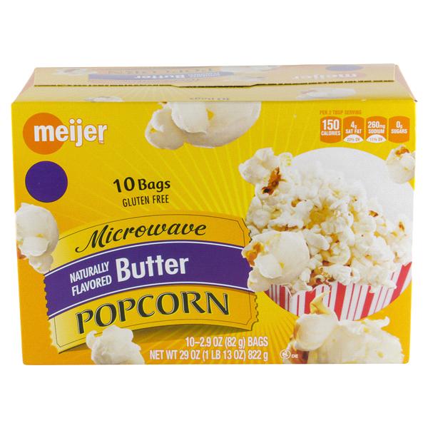Meijer Microwave Popcorn Er 10 Count 29 Oz