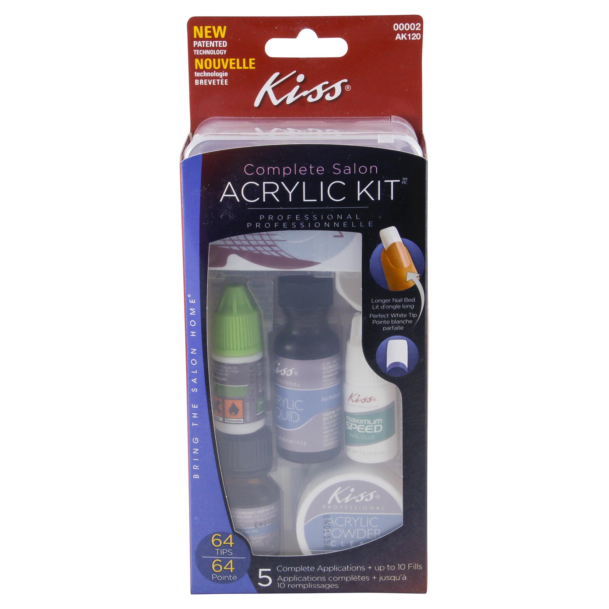 Kiss Complete Salon Professional Acrylic Nail Kit | Meijer.com