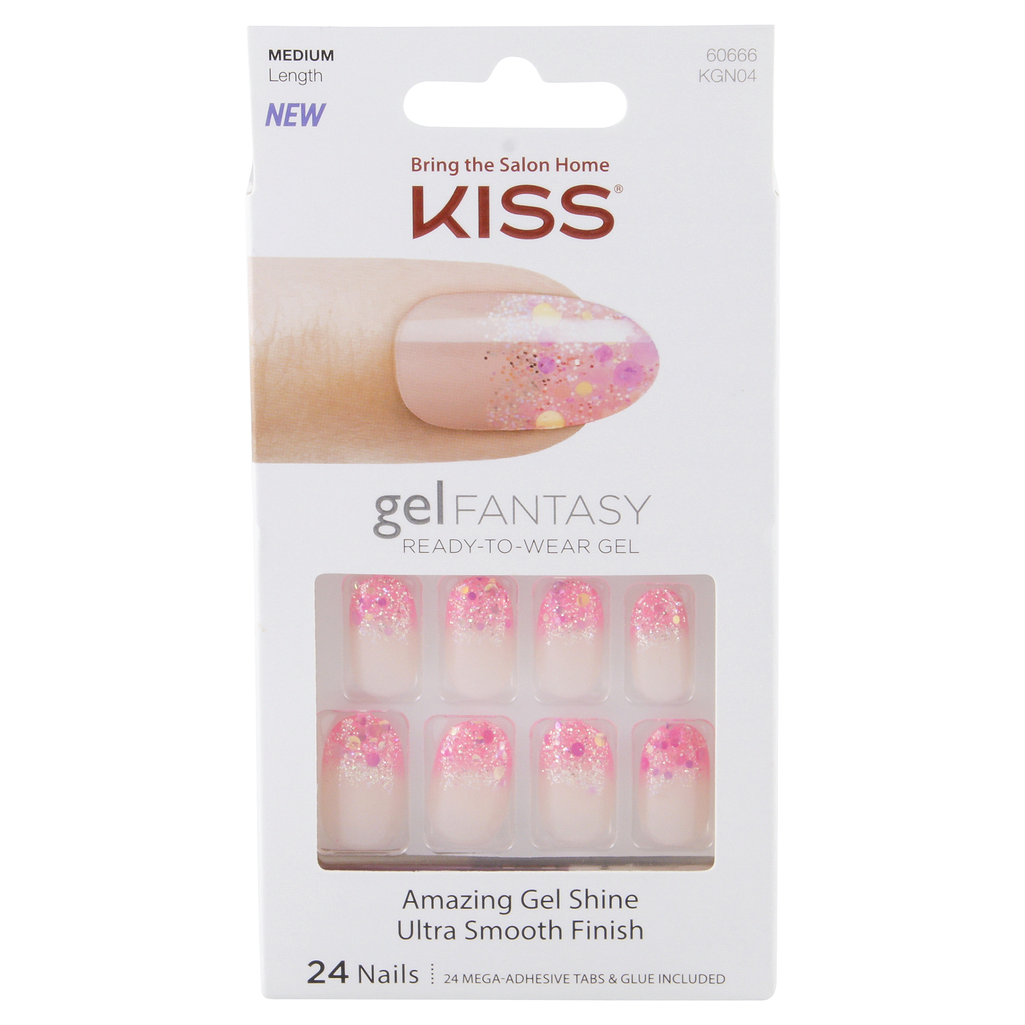 Kiss Gel Fantasy Ready-To-Wear Gel Nails 24 ct | Meijer.com