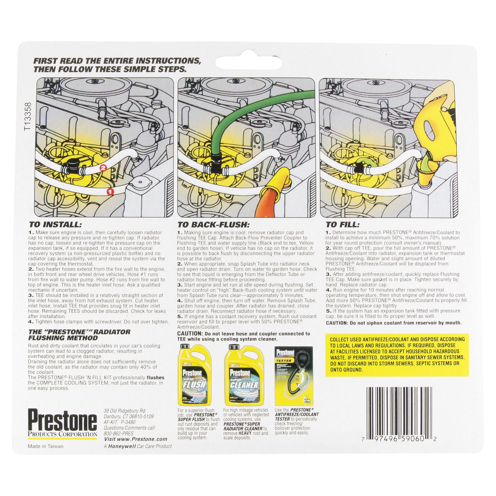 Prestone AF-KIT Flush N Fill Kit