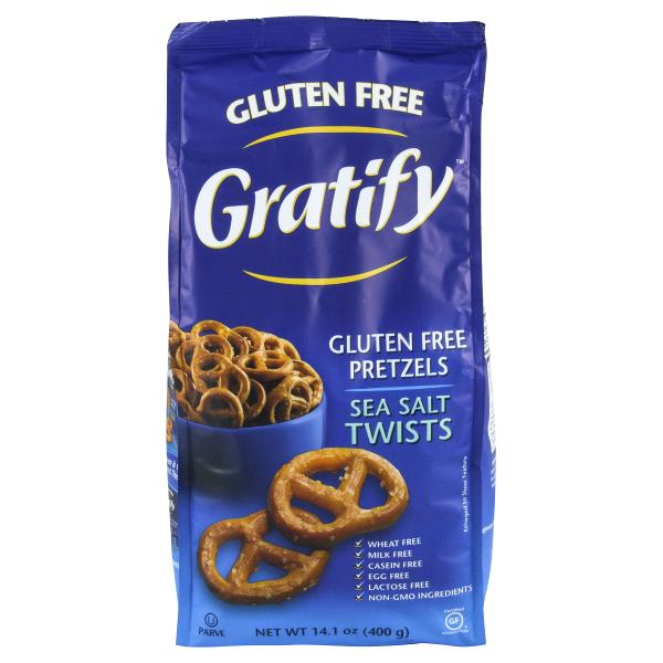 gratify gluten free pretzel sea salt twists 14 1 oz meijer com