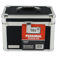 Vaultz Locking Personal Storage Box   Black