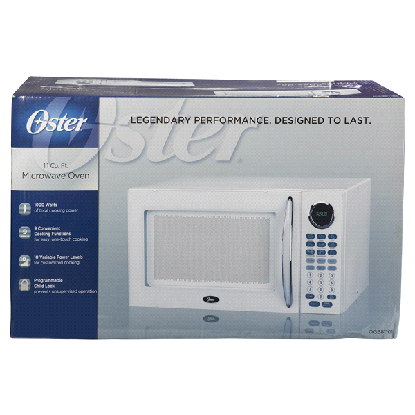 Oster 1 Cf 1000 Watt Microwave Oven White