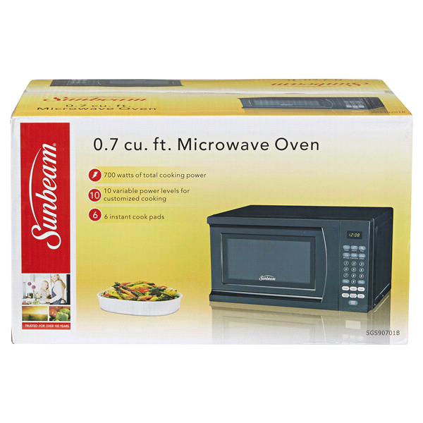 Sunbeam 7 Cf 700 Watt Microwave Oven Black