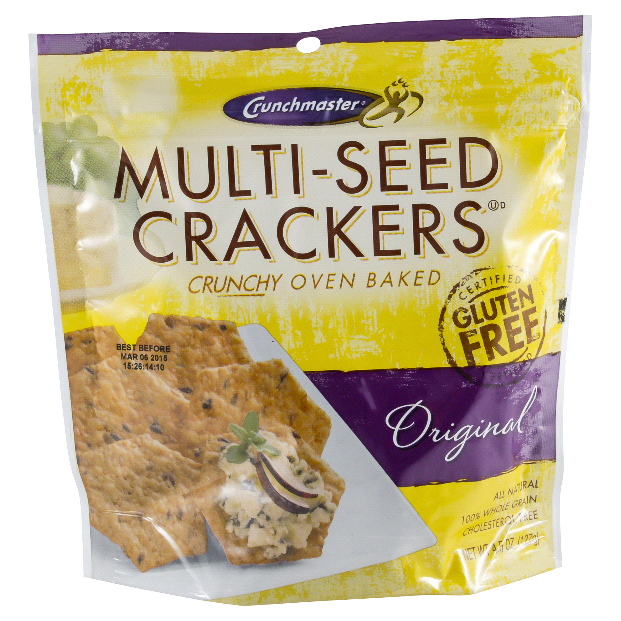 Crunchmaster Original Multi Seed Crackers 4 5 Oz