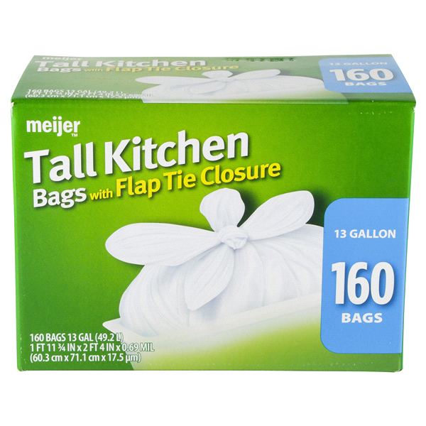 tall kitchen trash bag with flap tie 160 ct - Tall Kitchen Trash Bags