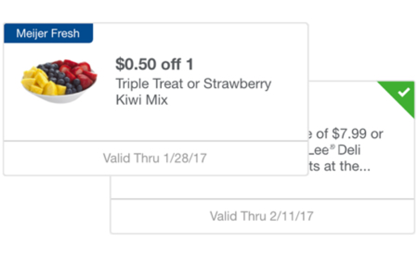 Meijer mPerks - Instantly Save Even More at Checkout!