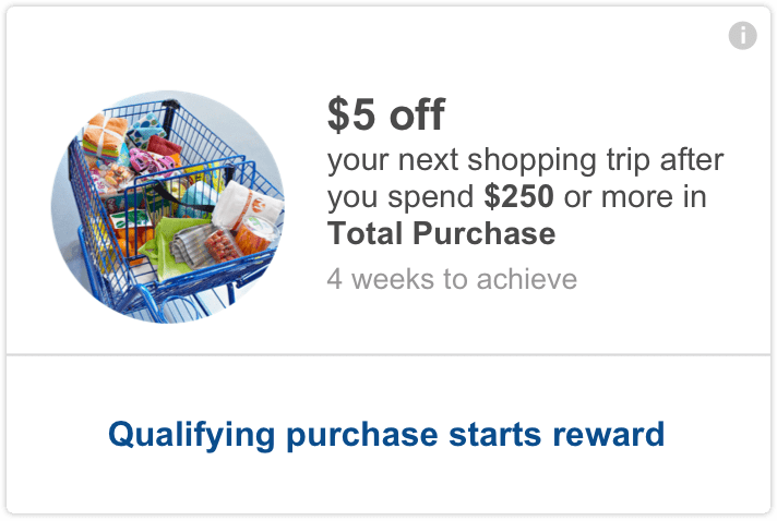 meijer mperks - $5 off your next shopping trip after you spend $250 or more in total purchase.